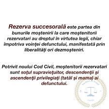 rezerva succesorala